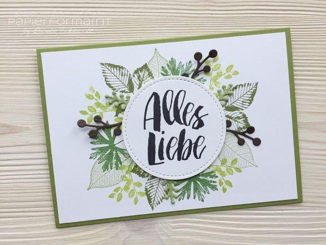 Photo of Geburtstagskarte Blättergruß (Papierforma(r)t)