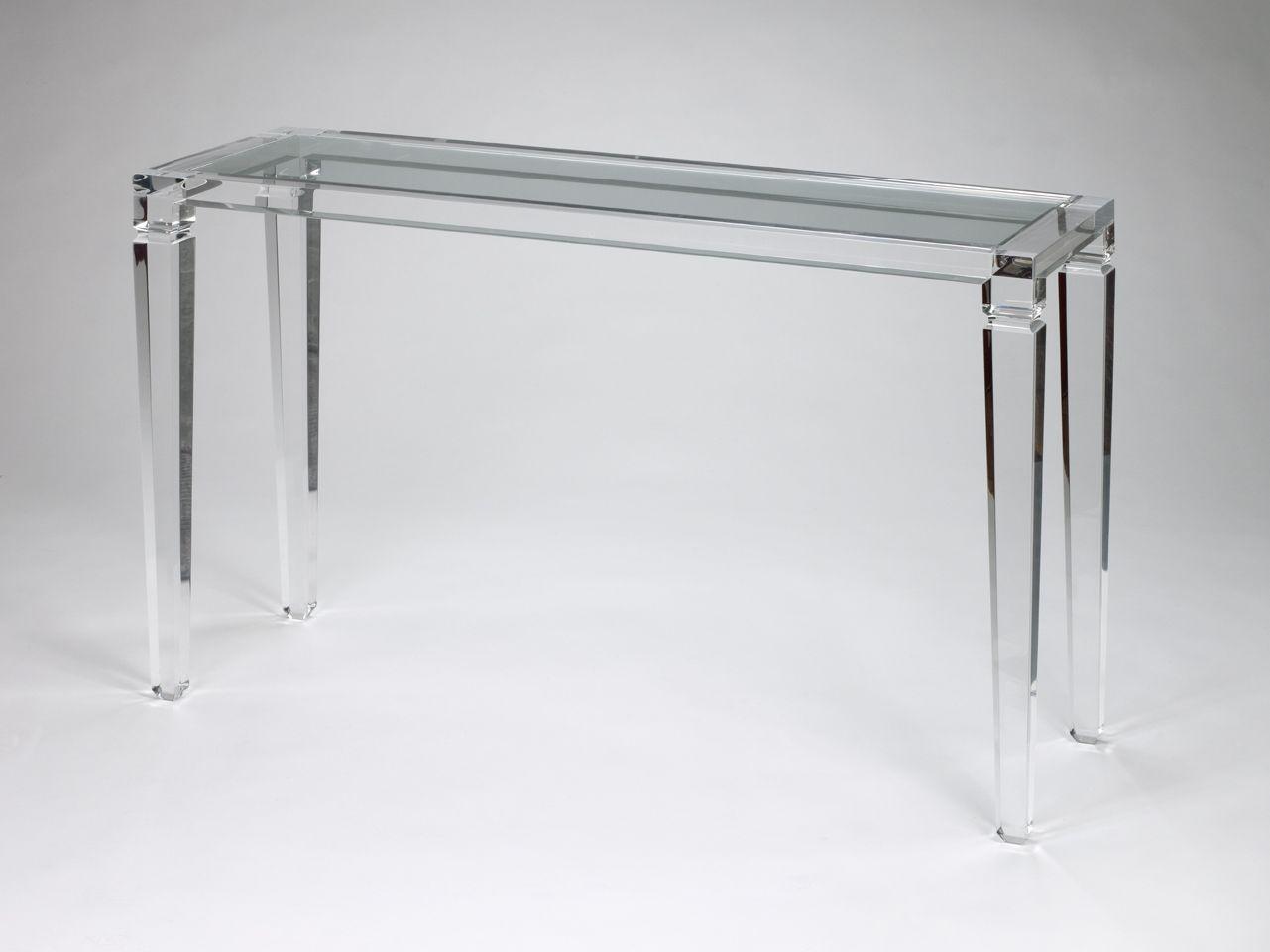 best lucite console table by francesca martire  working room  - best lucite console table by francesca martire