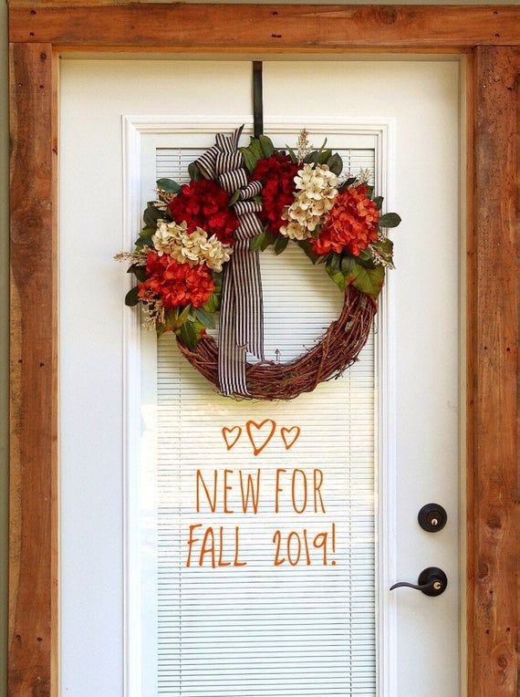 Photo of Autumn wreaths for front door, autumn wreath, autumn door wreaths, wreaths, grapevine wreath, decorations, housewarming gift, new household gifts