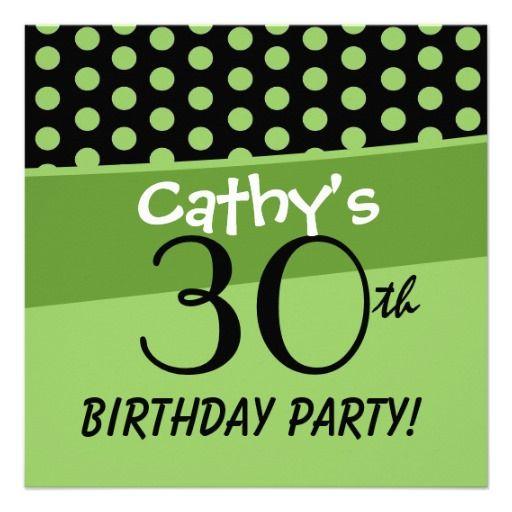 90th Birthday Polka Dots Modern Template Invitation