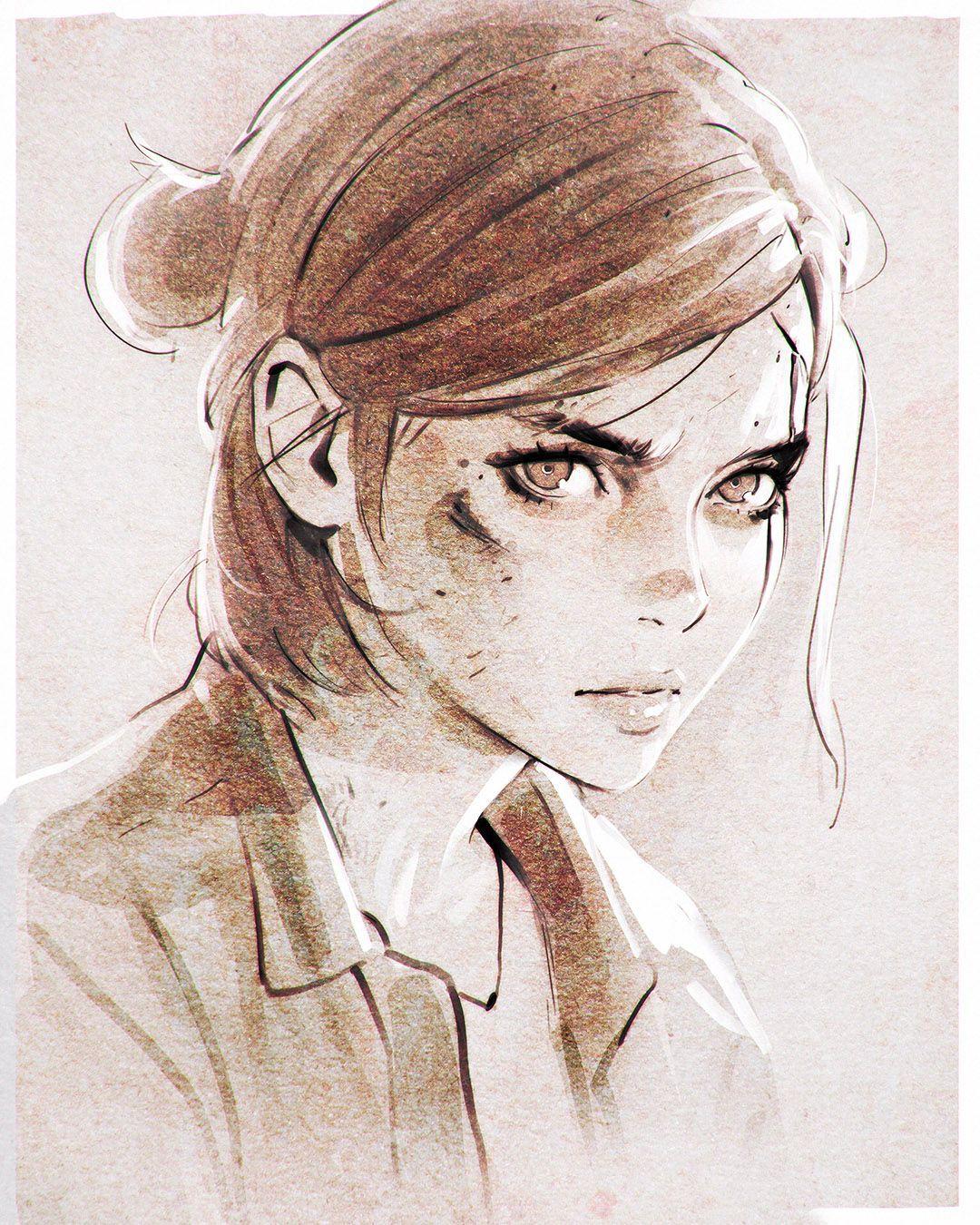 Ellie Art Character Art Sketches