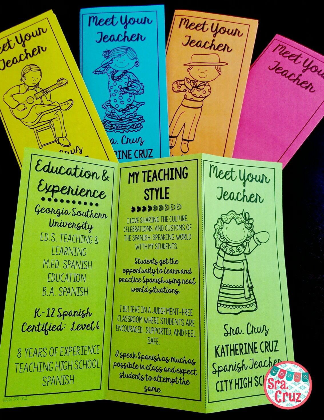 meet your teacher brochure english editable impress parents and students with this
