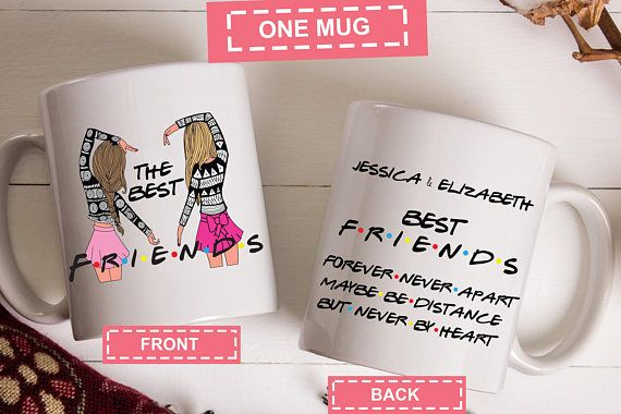 Personalised Friends Mug, Names, Best Friends, Best Friends Forever ...