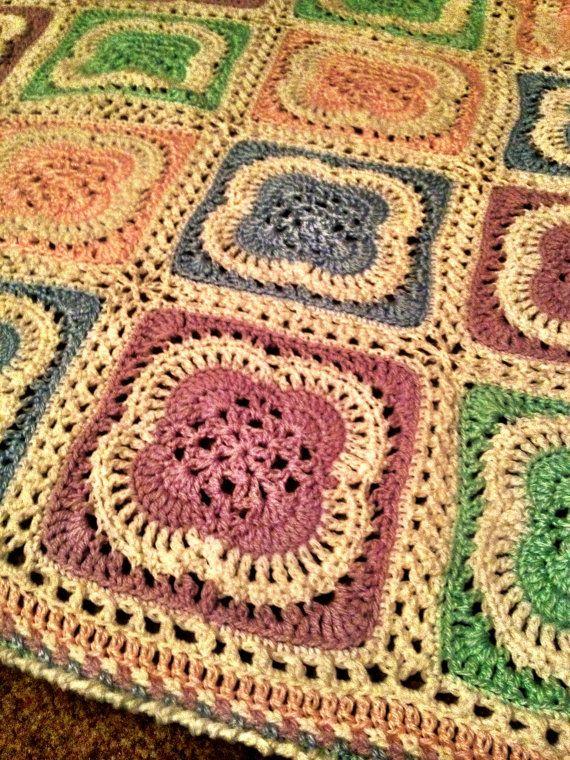 a pretty pastel crochet coverlet! ! | Crochet | Pinterest | Cobija ...