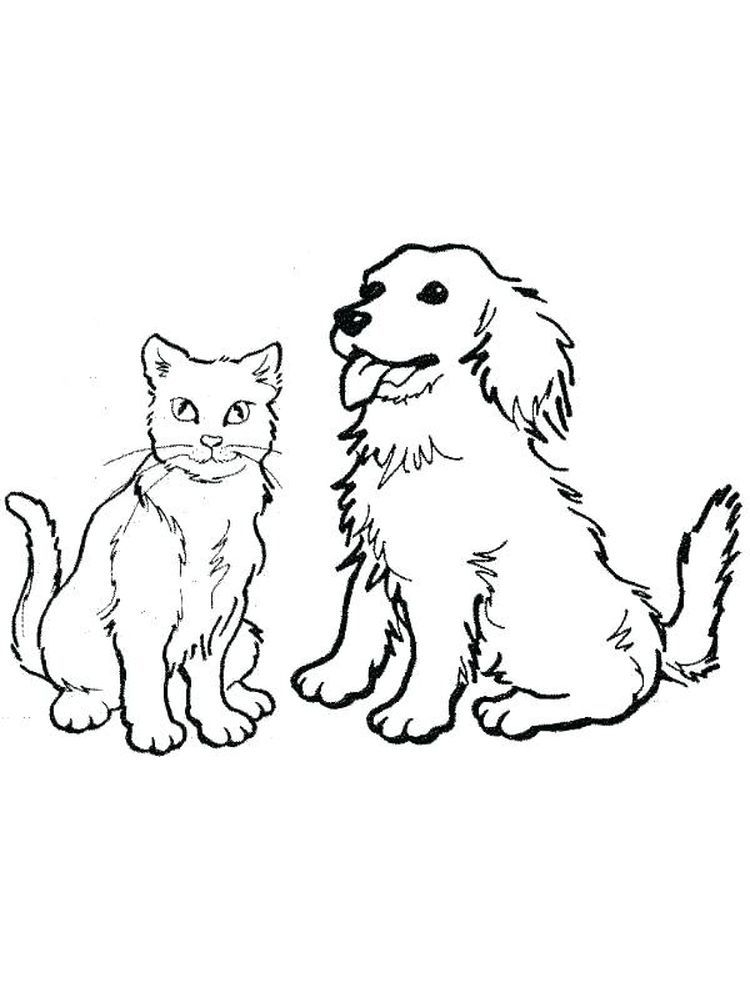 Kitty And Dog Coloring Pages Dogs Are Man S Best Friend The Relationship Between Dogs And Humans Beg Dog Coloring Page Puppy Coloring Pages Dog Coloring Book