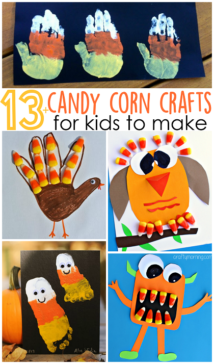 Fun And Festive Candy Corn Crafts For Kids Use Left Over Candy Corn