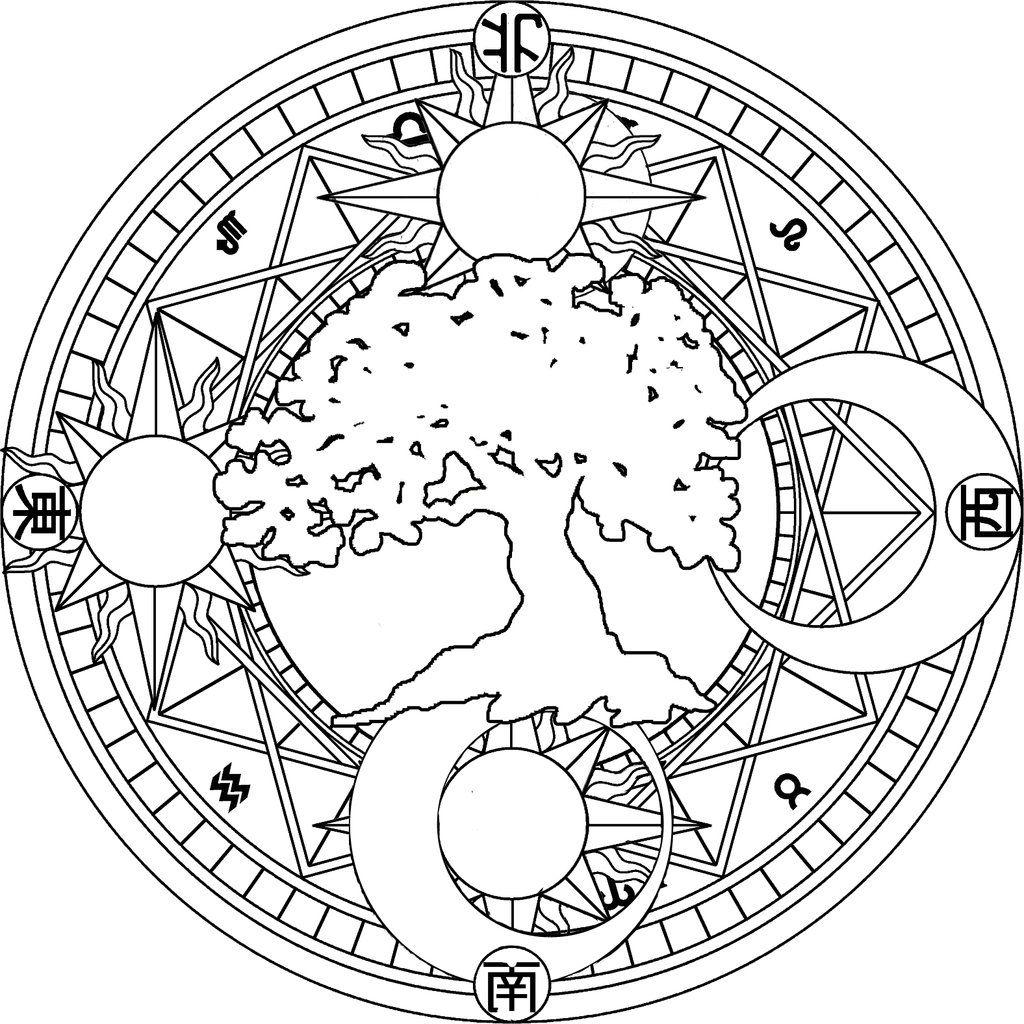 Sun and Moon Mandala Coloring Pages Free Mandala