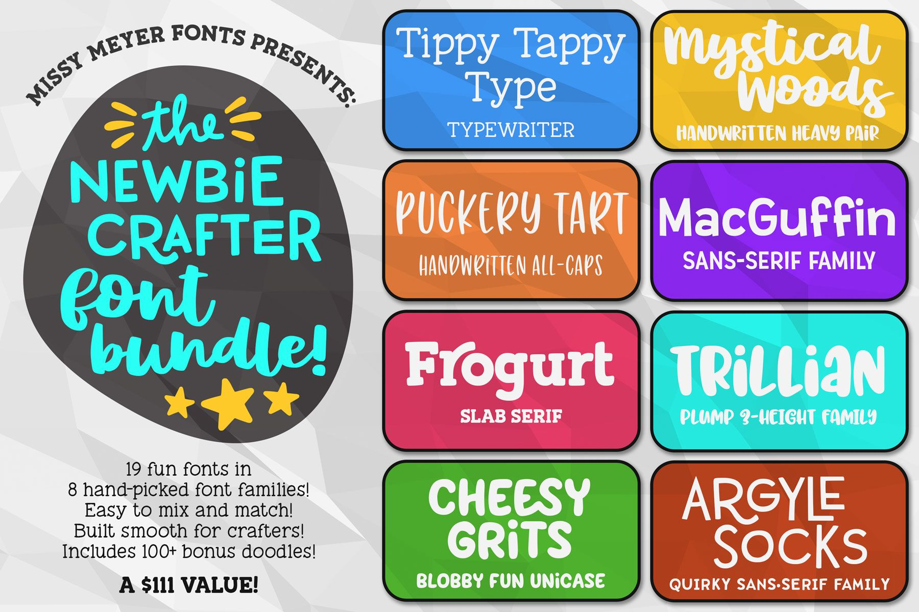 The Newbie Crafter Font Bundle