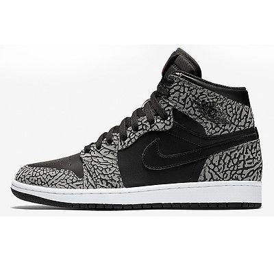 629552b6b54d80 Nike Jordan 1 Retro High Un-Supreme Mens 839115-013 Black Cement Shoes Size  10.5