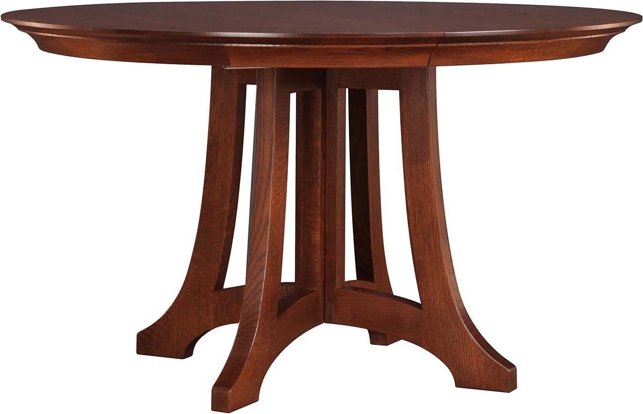 Stickley Highlands Round Dining Table 89 594 46 2lvs A Welcomed