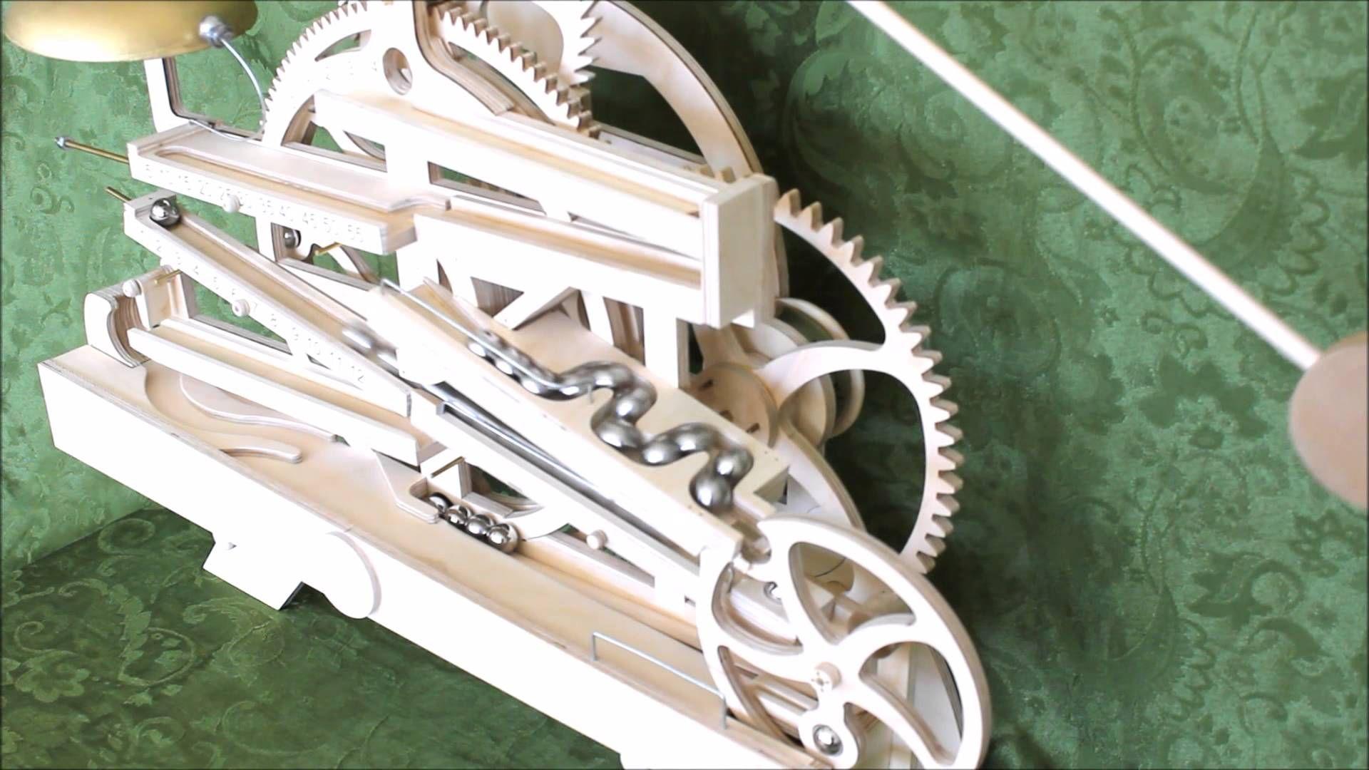 Celebration Rolling Ball Clock Wooden Gear Clock Clock Wooden Gears