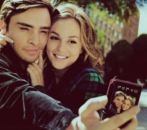 Ed Westwick and Leighton Meester.