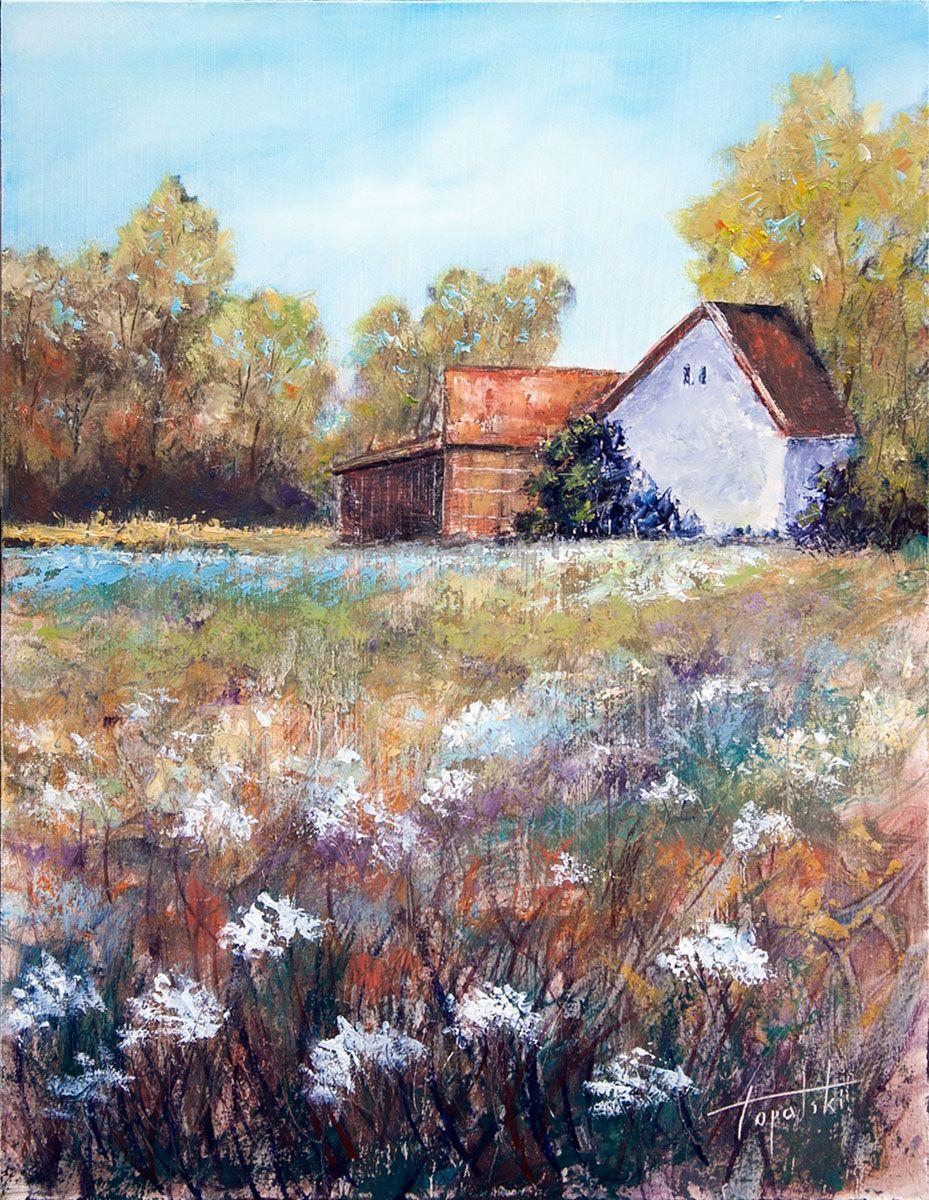 Farm House Oil Painting Fine art painting oil, Oil