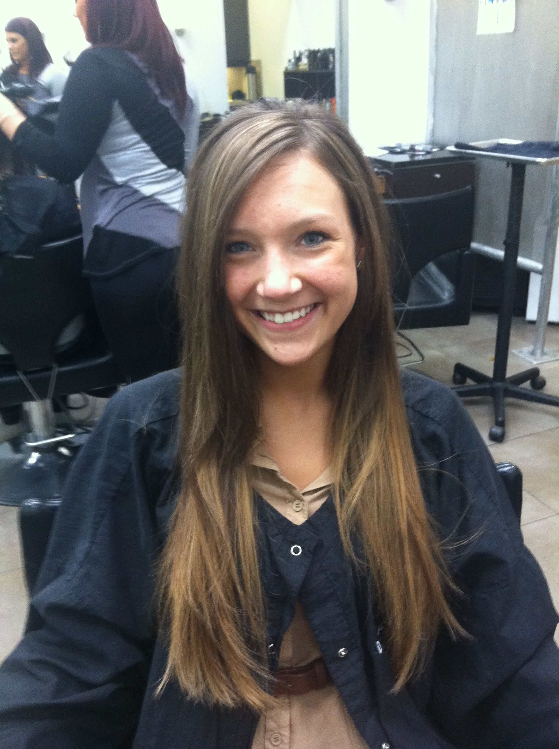 Ombre and cut by kady sobczak hair ombre style fasion haircut