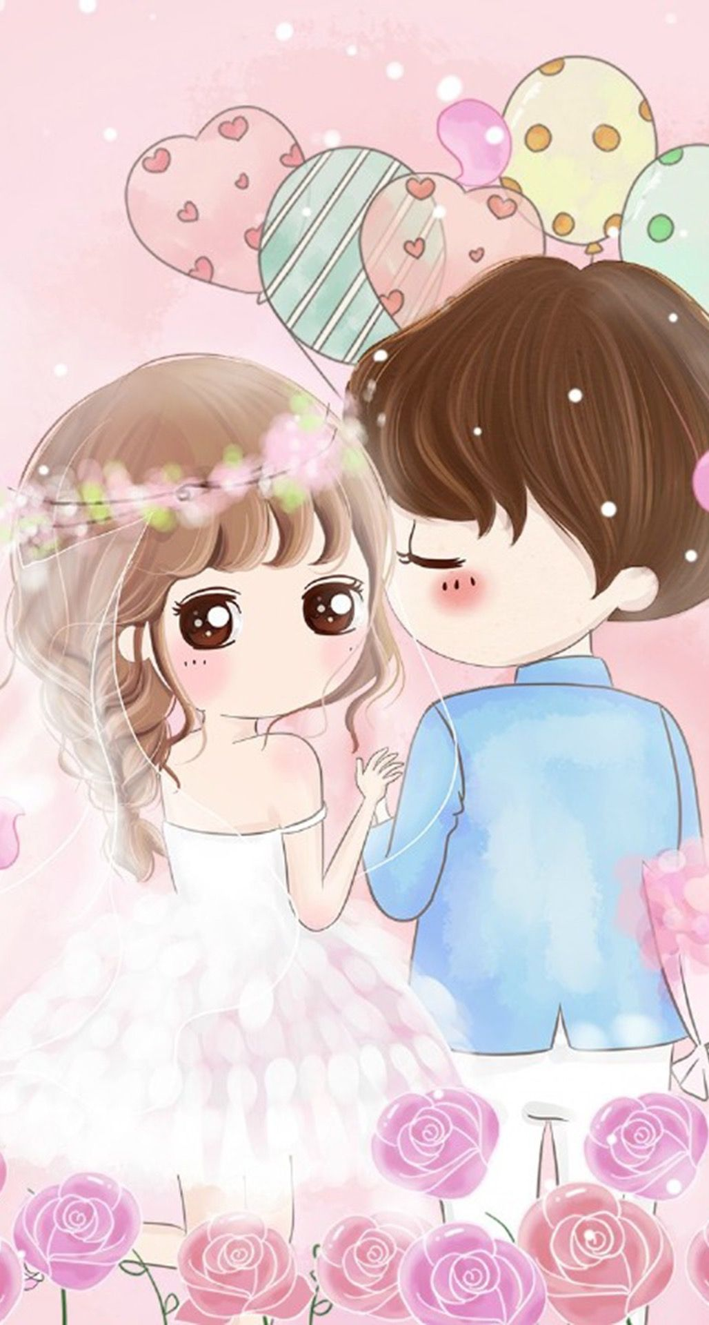 Cute anime couple wallpaper for iphone