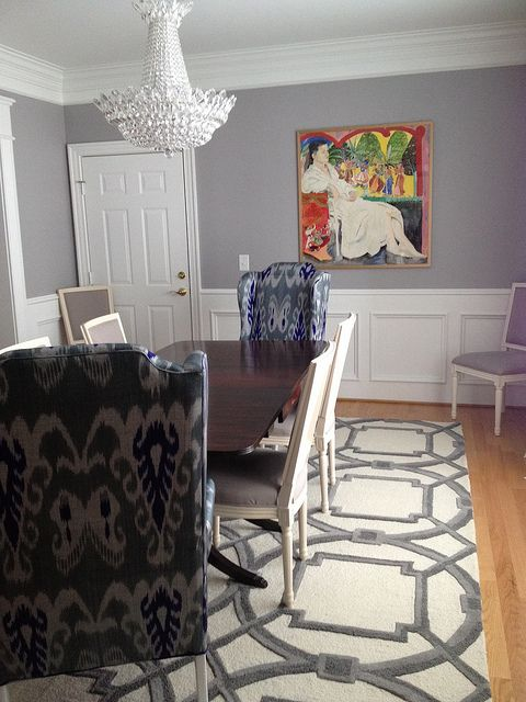 dining room... Love this with the large head/foot chairs!!!