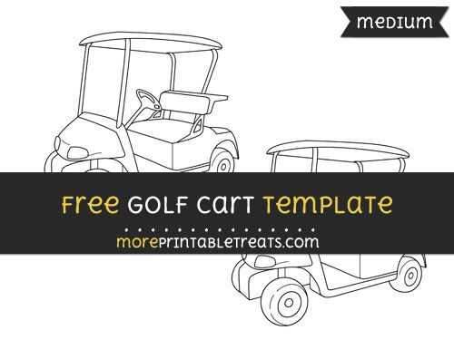 free golf cart template medium shapes and templates printables