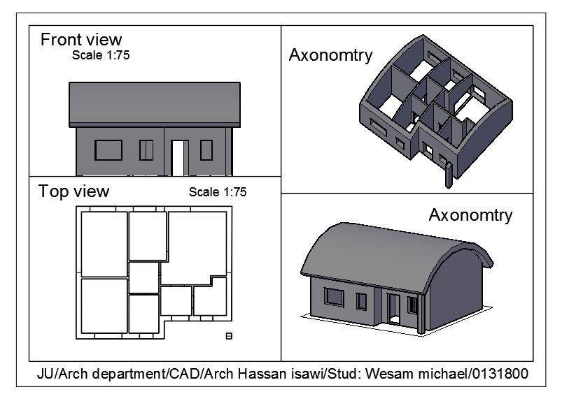 Wessam Abu Michaelالرسم المعماري بالحاسوب/ computer architectural drawing:
