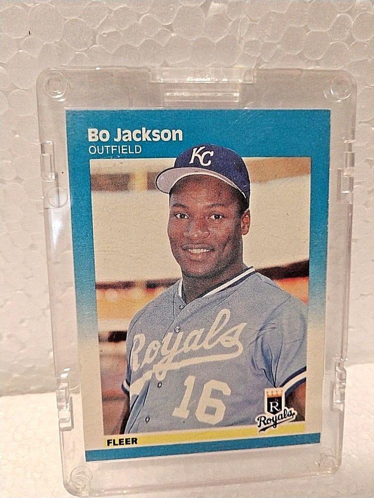 1987 fleer bo jackson 369 baseball card kansascityroyals