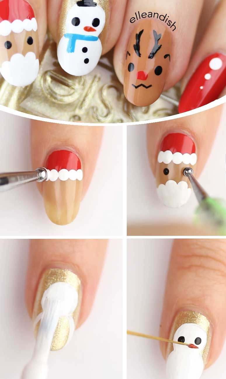 Easy Diy Christmas Nail Art Designs Nails In 2018 Pinterest