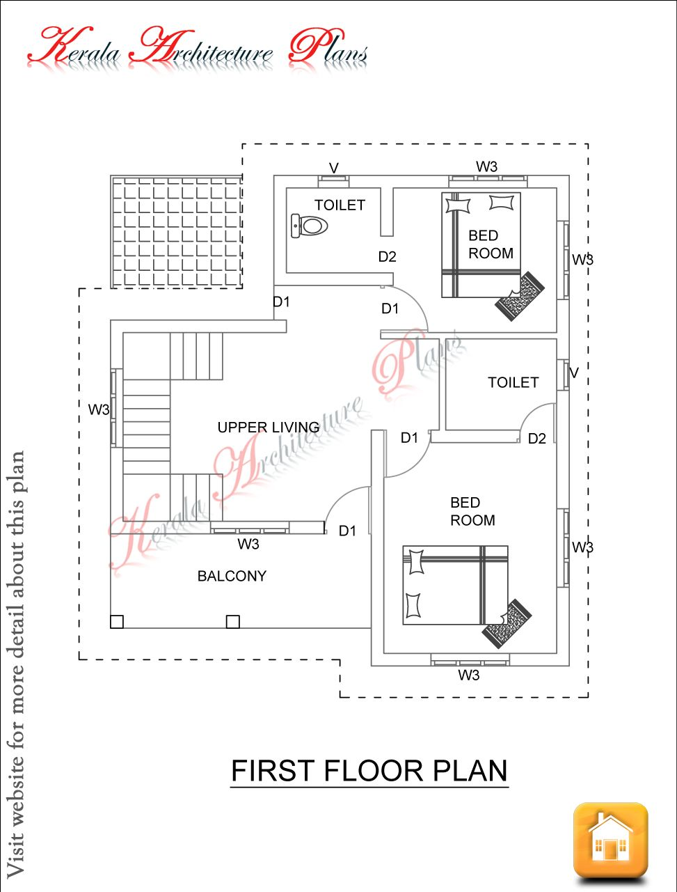 Kerala Architecture Plans Dec 06 Ff 1500 Square Feet House Plan Ground Floor And First Floor 1600 Sqft Kitchen How To Plan House Plans House Design Photos