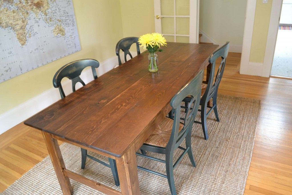 Farmhouse Table by Trev...swap chairs soon Narrow dining