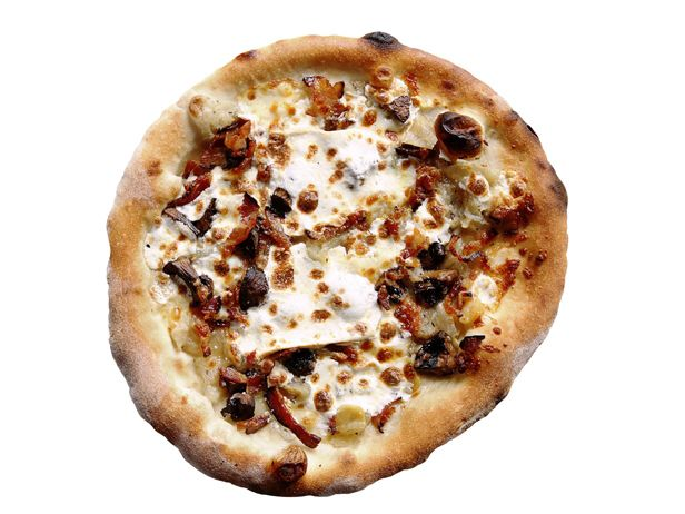 The Smoky From Comet Ping Pong: Washington, D.C. : This spot is a playground for grownups, a hybrid entertainment space with Ping-Pong tables, punk rock shows and, conveniently, the District's best wood-fired pizza. You won't find any sauce on the best pie in the house — and you won't miss it. The Smoky comes with a double dose of smoke instead: smoked cremini mushrooms and mozzarella, along with bacon and sweet caramelized onions. $13; 5037 Connecticut Ave. Northwest...