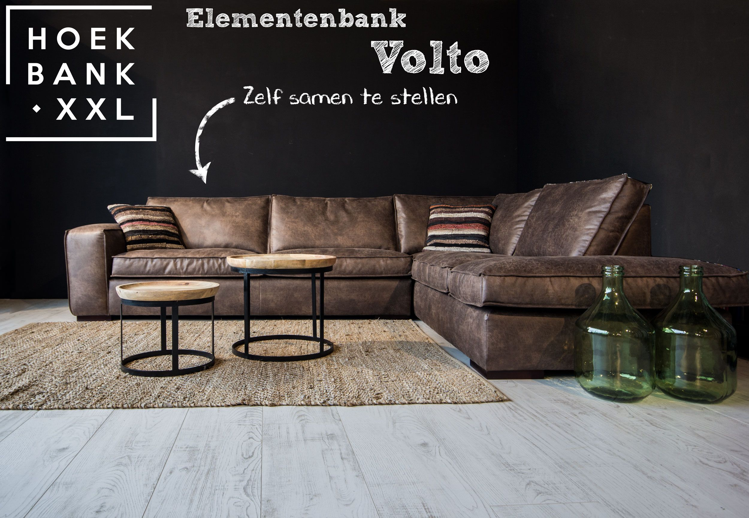 Elementenbank volto met longchair. grote lounge bank verkrijgbaar in