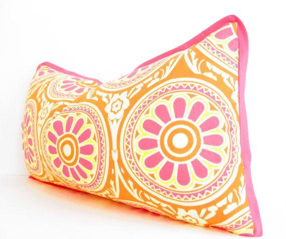 Pink Bolster Pillow Covers Pink Lumbar Pillow by CityGirlsDecor, $29.50