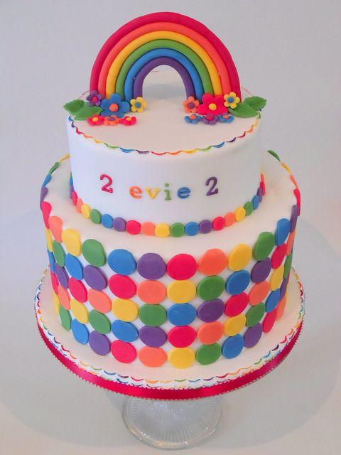 Rainbow Cake For A 2nd Birthday Rainbow Birthday Cake Birthday