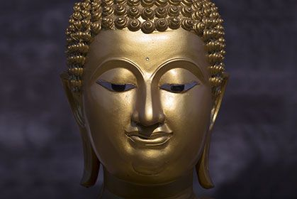 Bronze Buddha Zen wallpaper, Buddha, Wall wallpaper