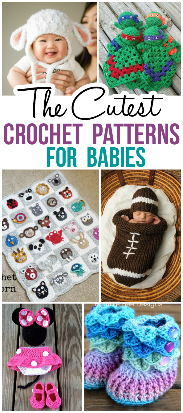 The Cutest Crochet Patterns For Babies | Pinterest | Mode kinder ...