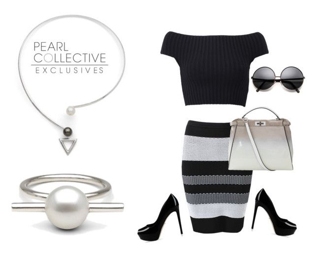 """SHOP - Pearl Collective - Necklace & Ring"" by pearlcollective ❤ liked on Polyvore featuring Michael Kors, Alexander Wang, Fendi and Sergio Rossi"