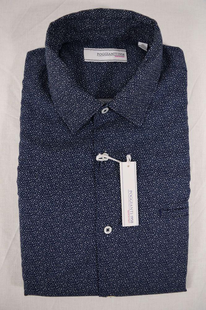 Camicia Uomo 100% Lino Beige con contrasti fantasia Slim Fit Collo Francese   9ac573cb345
