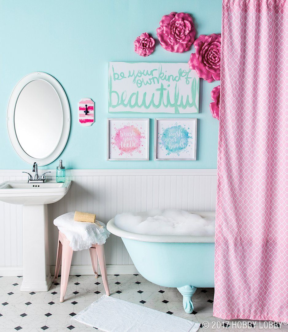 Give Your Bathroom A Bright Makeover With Colorful And Creative