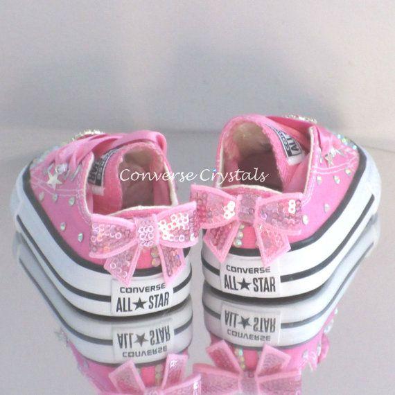 e2b84110744361 Toddler   Girls Custom Crystal Bling Converse by ConverseCrystals ...
