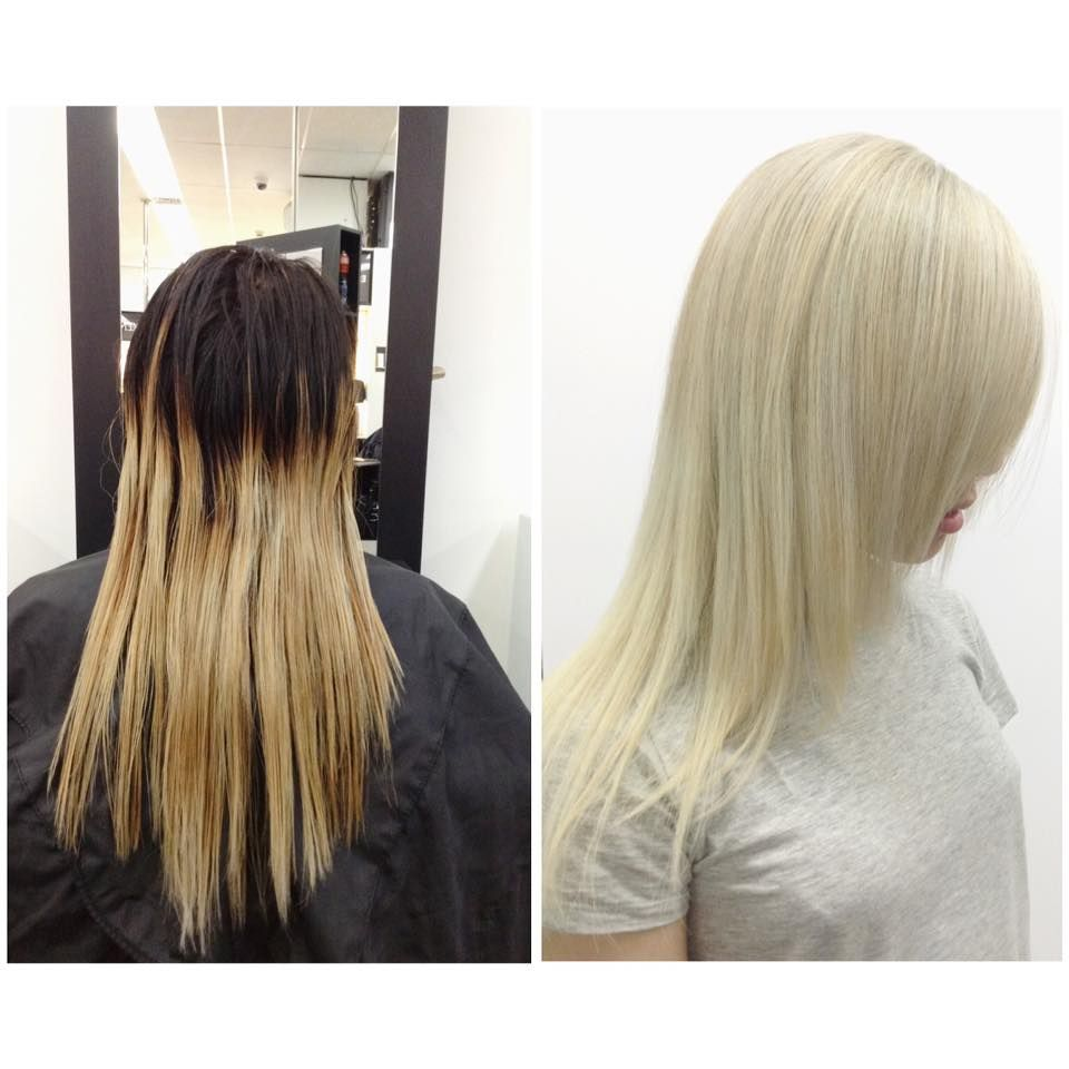 An Incredible Colour Correction To Platinum Blonde By Ebony Ivory