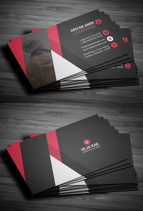 Professional Business Card Template #businesscards #psdtemplates ...