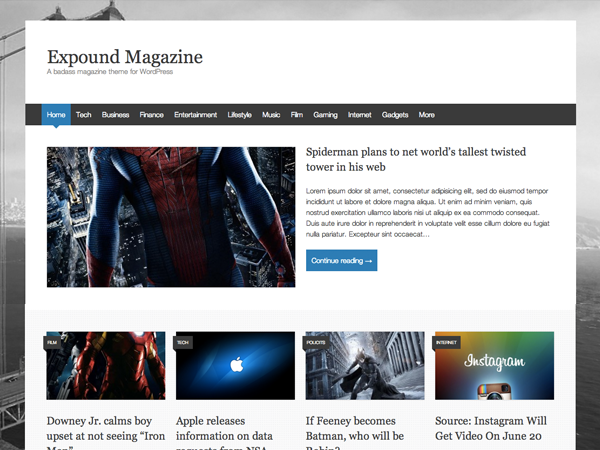 Tema de wordpress para sitios web de revistas online - #wordpress ...