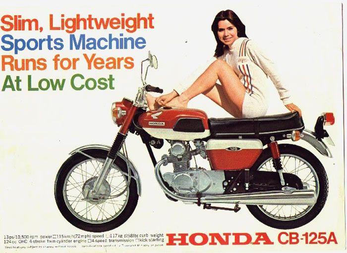 Vintage Honda CB125 Motorcycle Ad