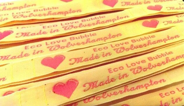My lovely new labels @ecolovebubble
