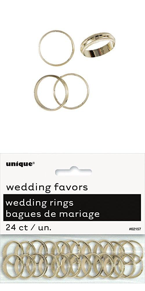 Plastic Gold Wedding Ring Favor Charms 24ct Wedding Rings