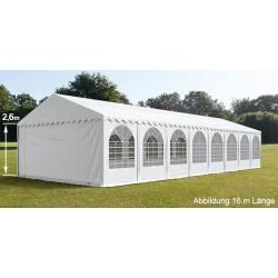 Photo of Party tent 6x24m Pvc 550 g / m² white waterproof garden tent, marquee, pavilion Toolport