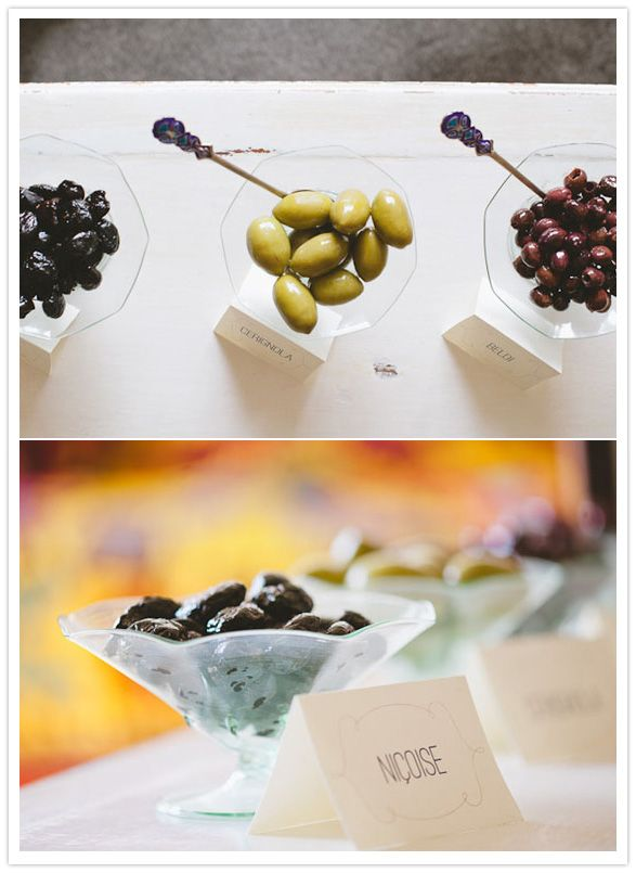 Fancy little olive bar