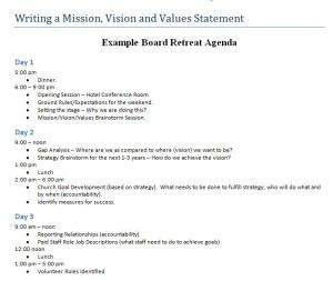 Mvv Board Retreat Agenda Jpg  Paper  Lists