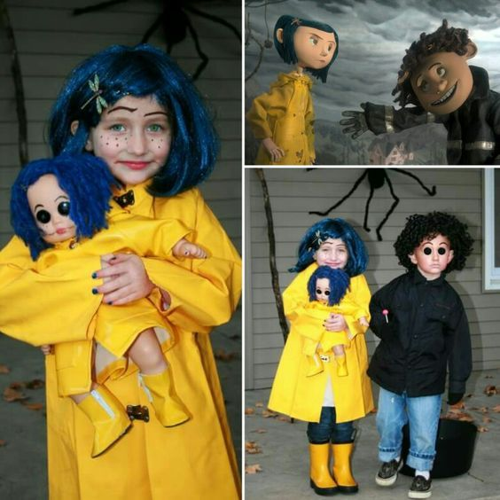 Coraline Wybie Costume Diy Ideas For Halloween Maskerix Com Cute Couple Halloween Costumes Halloween Costumes Friends Doll Halloween Costume