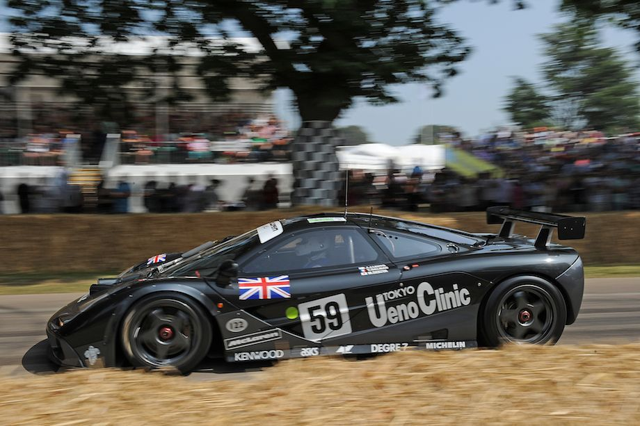 mclaren f1 gtr winner of the 1995 le mans 24 hours goodwood festival of speed 2013 automotive. Black Bedroom Furniture Sets. Home Design Ideas