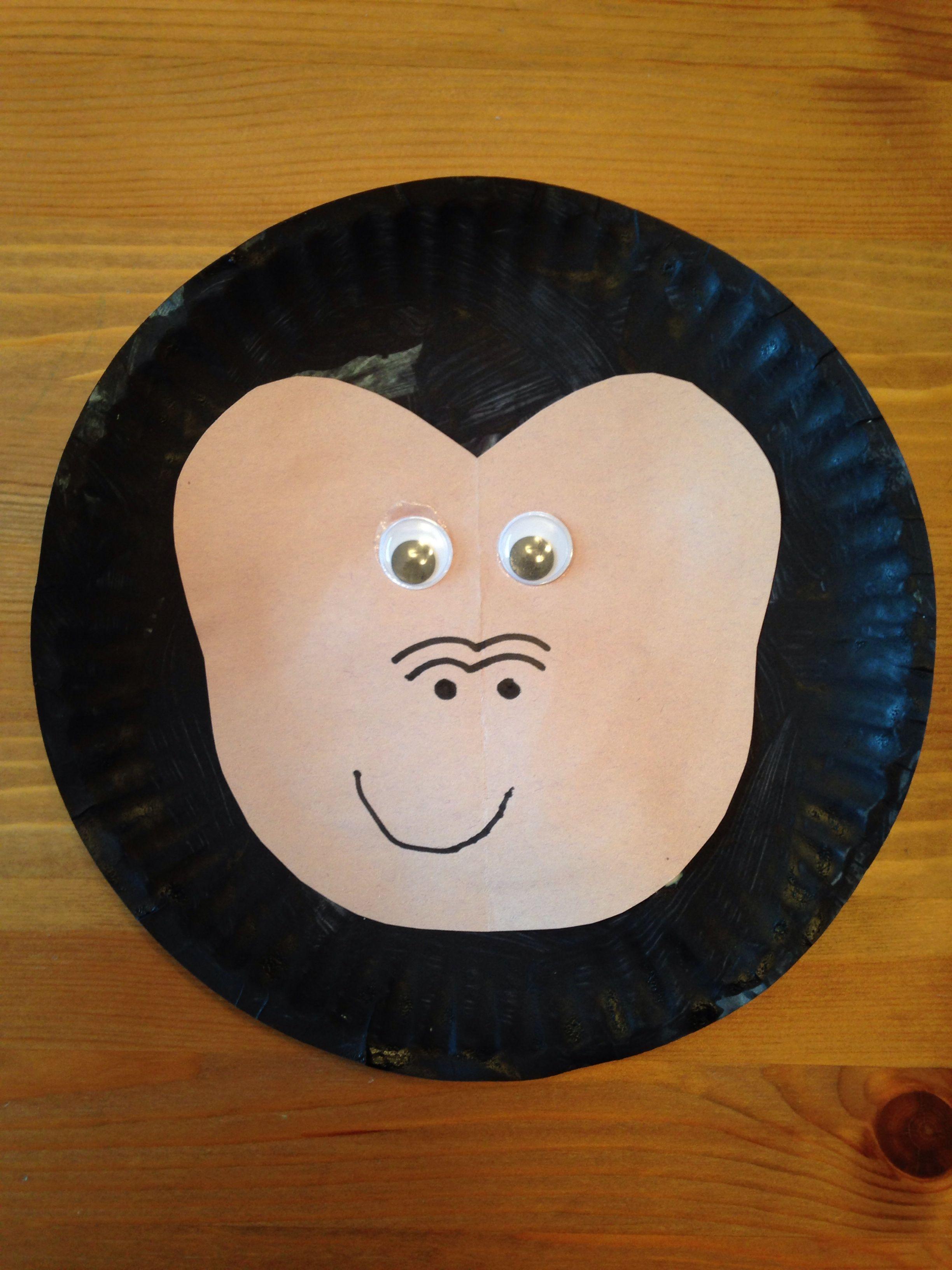 Paper plate animal crafts - Paper Plate Gorilla Craft Animal Craft Zoo Craft Preschool Craft