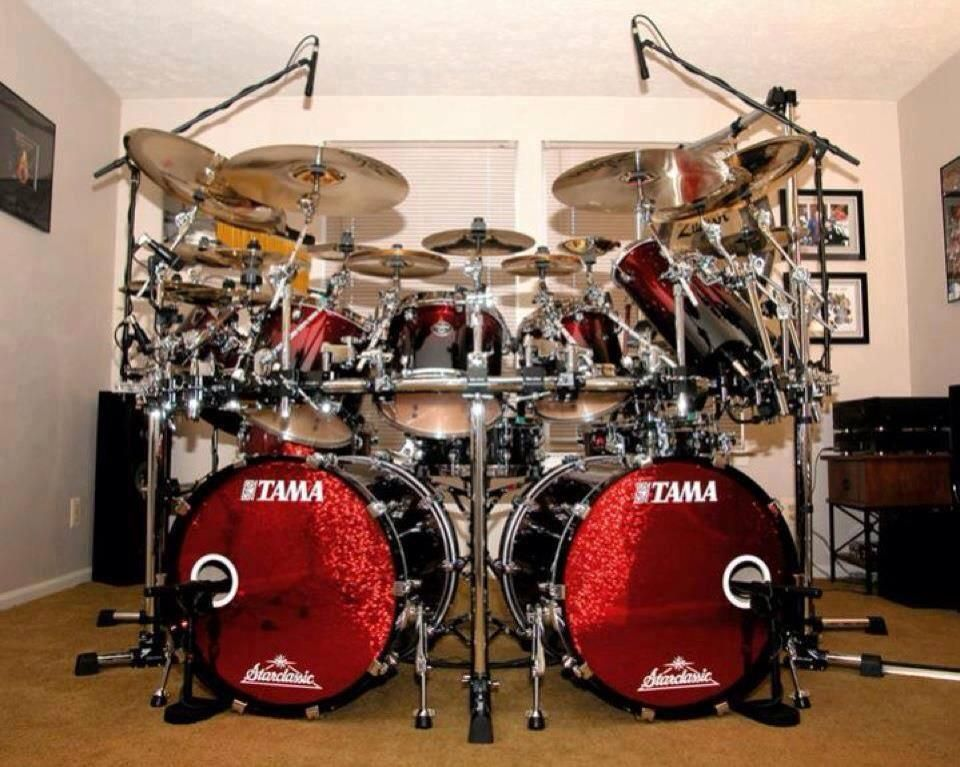 Tama drums love the red drums drum kits drum and bass