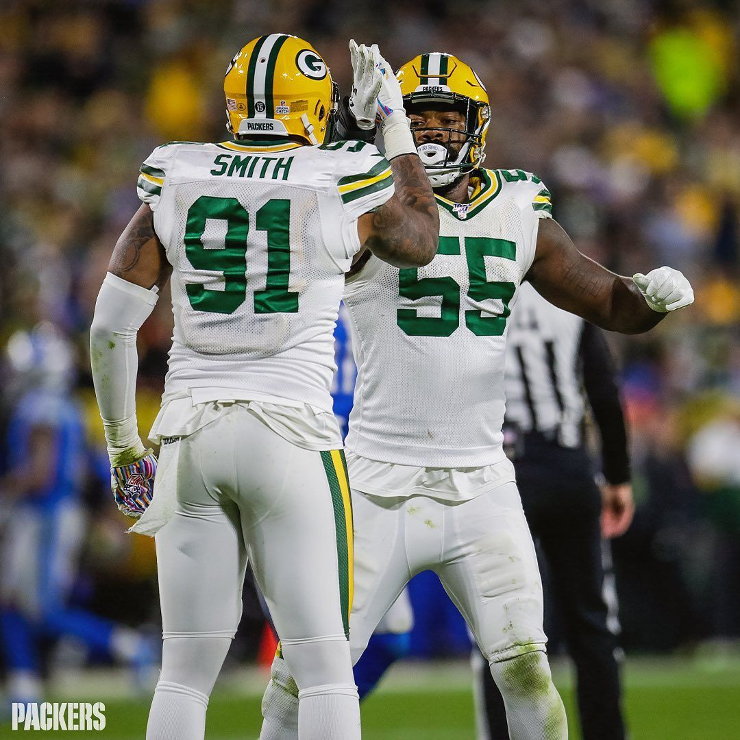Green Bay Packers On Instagram Preston Smith 7 Za Darius Smith 6 Are The First Packers Tandem To Both Green Bay Packers Green Bay Packers Meme Packers